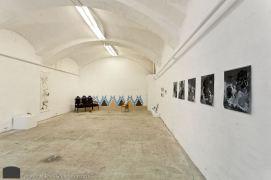 Installation shot, LUDA exhibit with works by Amelia Beavis-Harrison, Thale Fastvold, Javier Barrios